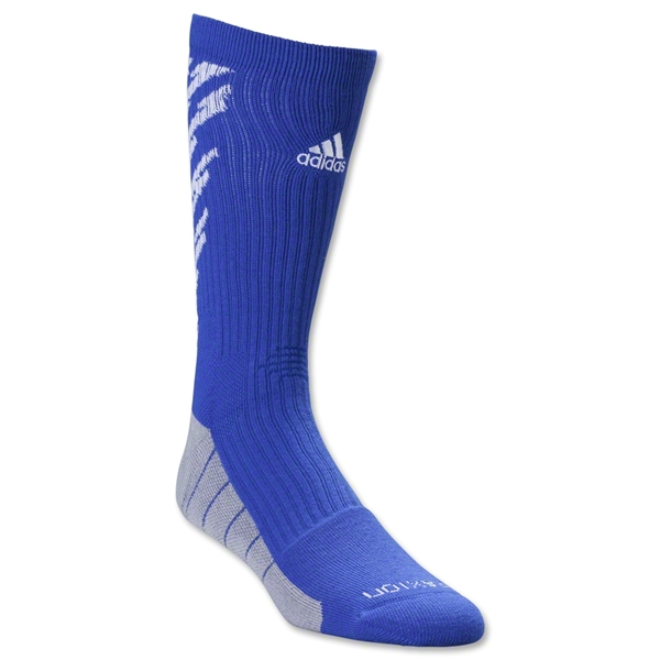 adidas Team Speed Traxion Shockwave Crew Sock (Roy/Wht)