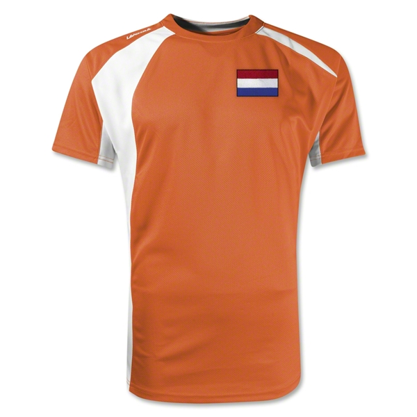 Netherlands Gambeta Soccer Jersey (Orange/White)