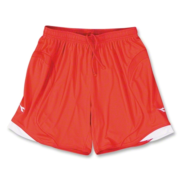 Diadora Napoli Soccer Shorts (Red)