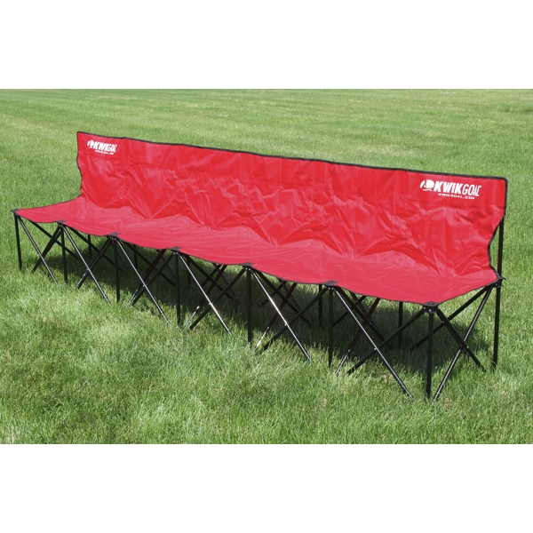 Kwik Goal Six Seat Kwik Bench (Red)