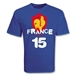 France 2011 15 Rugby T-Shirt (Royal)