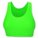 Gemsports Sports Bra-Neon Green (Flg)