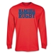 Namibia Supporter LS Rugby T-Shirt (Red)