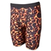 Men's Red Flame Compression Short (Red)