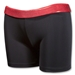 Svforza Women's Short with Metallic Waistband (Red)