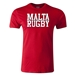 Malta Supporter Rugby T-Shirt (Red)