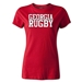Georgia Women's Supporter Rugby T-Shirt (Red)