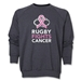 Rugby Fights Cancer Men's Crewneck Fleece Sweatshirt (Dark Gray)