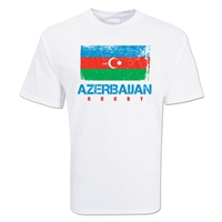 Azerbaijan Country Rugby Flag T-Shirt