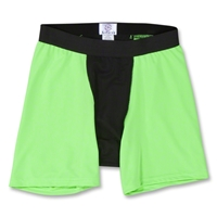 Two-Tone Compression Shorts (Neon Green)