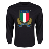 Italy Rugby Long Sleeve T-Shirt (Black)