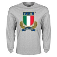 Italy Rugby Long Sleeve T-Shirt (Grey)