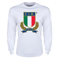 Italy Rugby Long Sleeve T-Shirt (White)