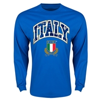Italy Rugby Long Sleeve T-Shirt (Royal)
