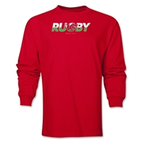 Wales Rugby Men's LS T-Shirt (Red)