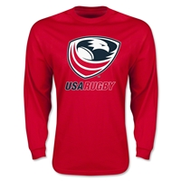 USA Rugby Long Sleeve T-Shirt (Red)