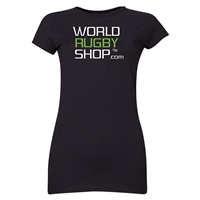 World Rugby Shop Junior Ladies T-Shirt (Black)