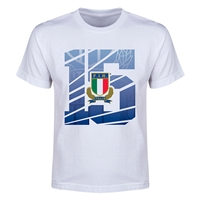 Italy Rugby Youth T-Shirt (White)