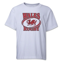 Rugby International Wales Rugby Youth T-Shirt (White)