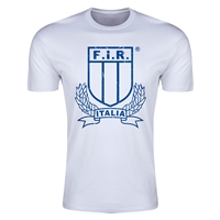 Italy Rugby Premier T-Shirt (White)