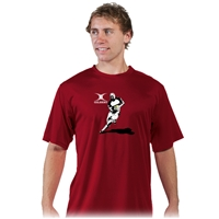 Gilbert Rugby Player Performance T-Shirt (Maroon)
