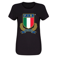 Italy Rugby Women's T-Shirt (Black)