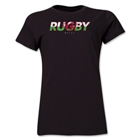 Wales Rugby Women's T-Shirt (Black)