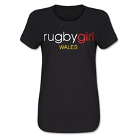 Rugby Girl Wales Women's T-Shirt (Black)