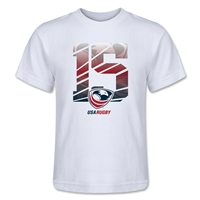 USA Rugby 15 Kids T-Shirt (White)
