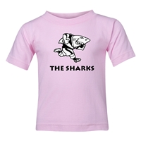 Sharks Rugby Toddler T-Shirt (Pink)