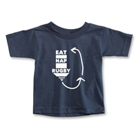 Eat. Nap. Rugby. REPEAT Toddler T-Shirt (Navy)