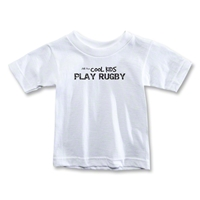 Cool Kids Play Rugby Toddler T-Shirt (White)