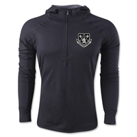 Milwaukee Rugby Club Men's 1/4 Zip Training Hoody (Black)