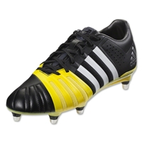 Adidas FF80 PRO 2.0 XTRX SG Rugby Boots (Core Black/White/Electric Yellow)