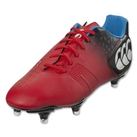 Canterbury Control Club 6 Stud Rugby Boots (True Red)