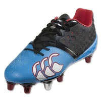 Canterbury Phoenix Elite 8 Stud Rugby Boots (Black/Dresden Blue)