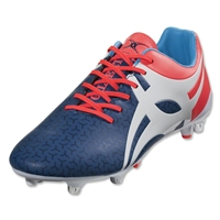 Gilbert Evolution V1 Rugby Boots (Blue/Red)