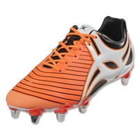 Gilbert Evo MK2 8S Rugby Boots (Orange/Black)