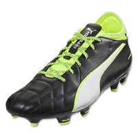 Puma evoTouch 3 Leather FG (Black/White/Safety Yellow)