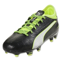 Puma evoTouch 3 FG Junior (Black/White/Safety Yellow)