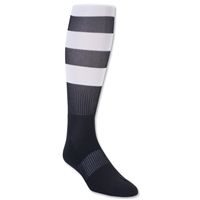 Elite Hooped Rugby Sock (Black/White)