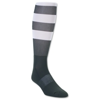 Elite Hooped Rugby Sock (Dark Green/White)