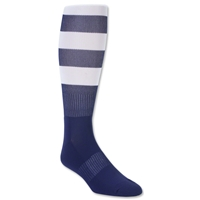 Elite Hooped Rugby Sock (Navy/White)