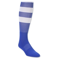 Elite Hooped Rugby Sock (Royal/White)