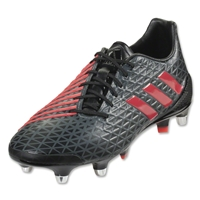 Adidas Predator Malice SG Rugby Boots (Core Black/Shock Red/Vista Grey)