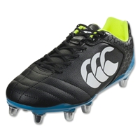 Canterbury Stampede Club 8S Rugby Boots (Black/Atomic Blue)