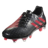 Adidas Malice Elite SG Rugby Boots (Core Black/Shock Red/Solid Grey)