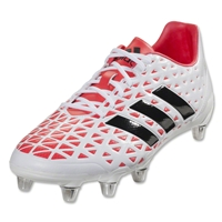 Adidas Kakari Elite SG Rugby Boots (White/Core Black/Shock Red)