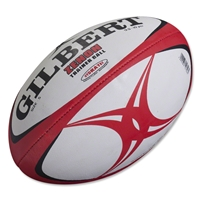 Gilbert Zenon Training Rugby Ball (Red/Black)