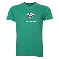 Sharks Rugby V-Neck T-Shirt (Heather Green)